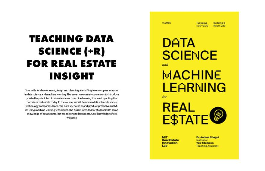 Introducing a new Masters class at MIT: Data Science andMachine